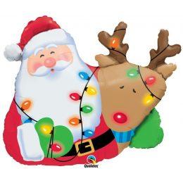 Μπαλόνι Άγιος Βασίλης & ρούντολφ 88 εκ