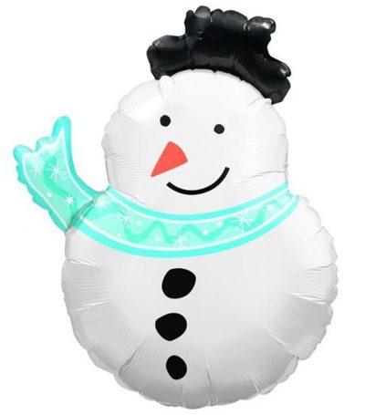 Μπαλόνι χιονάνθρωπος με κασκόλ 75 εκ
