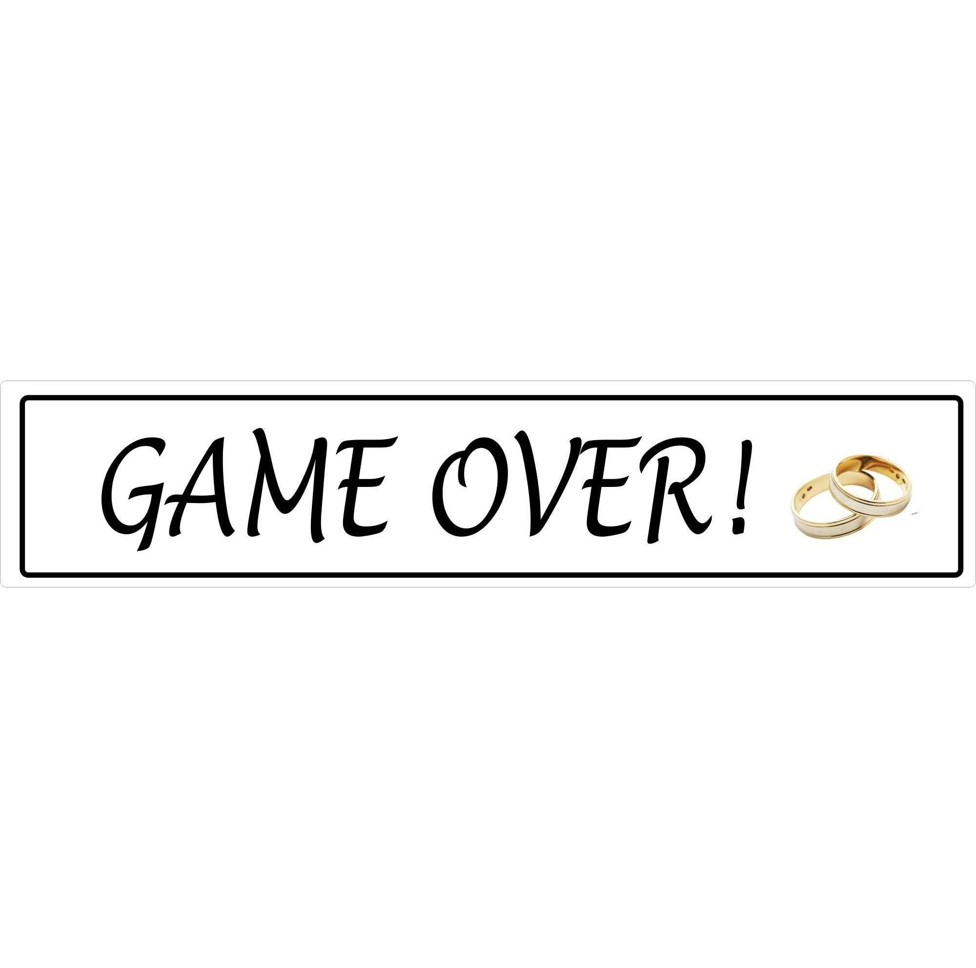 Πινακίδα αυτοκινήτου γάμου Game Over