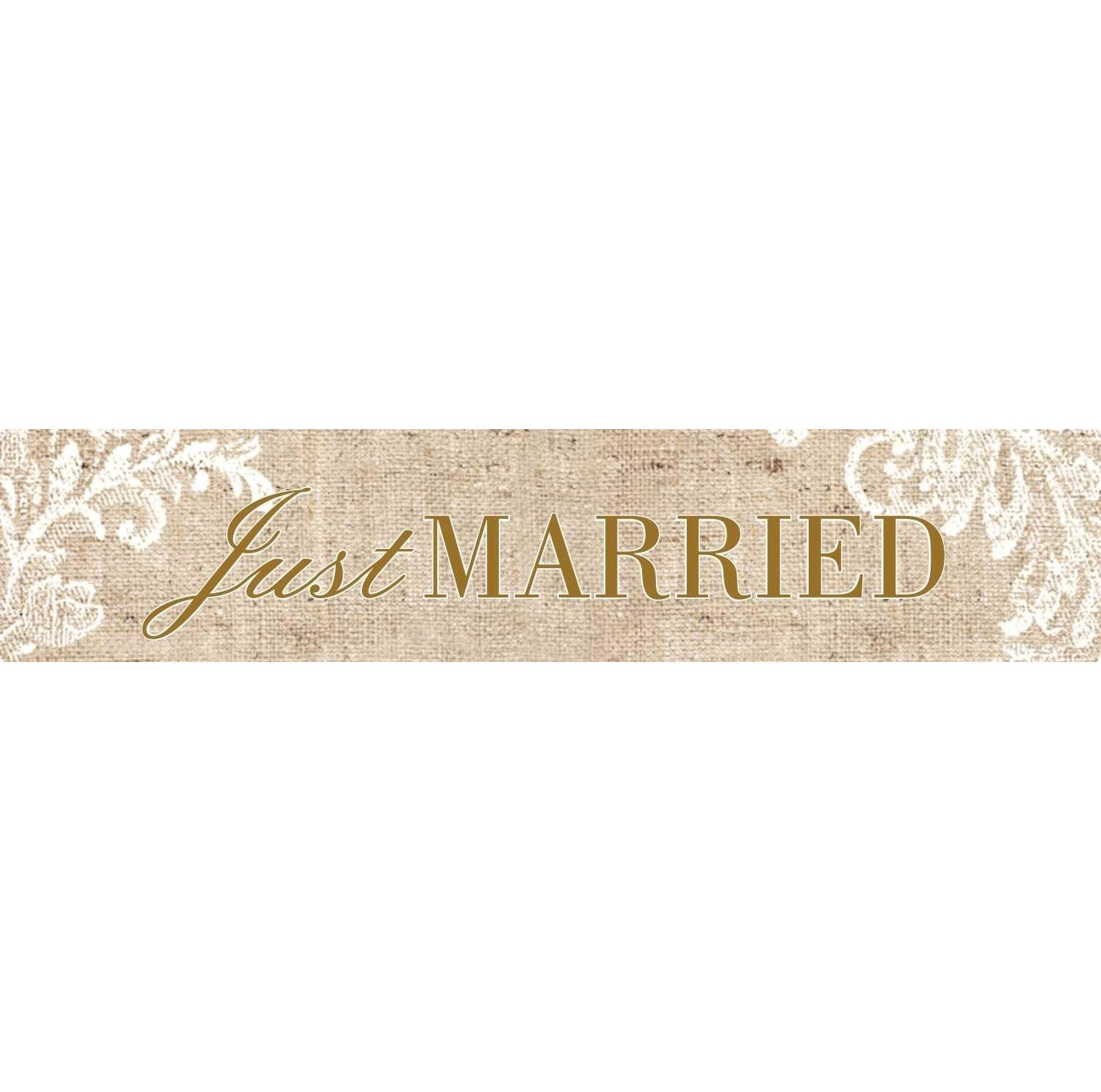 Πινακίδα αυτοκινήτου γάμου Just Married Vintage