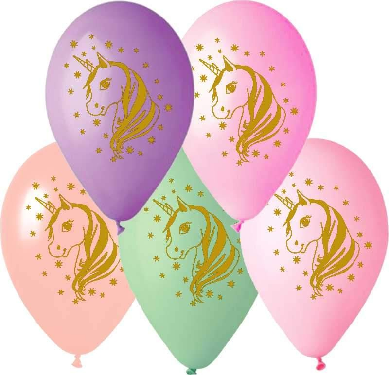 """12"""" Μπαλόνι τυπωμένο Μονόκερος"""