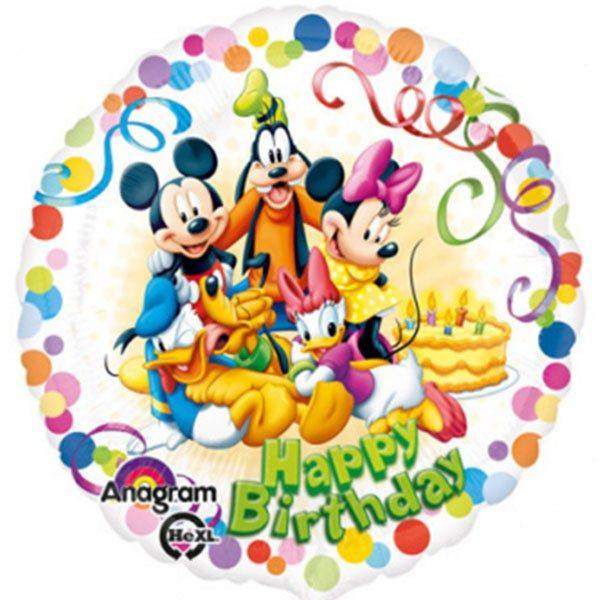Μπαλόνι Mickey & παρέα Happy bday 45 εκ