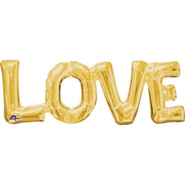 Μπαλόνι αγάπης Χρυσό Love 63 εκ