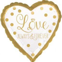 Μπαλόνι Καρδιά Love always & forever 45 εκ