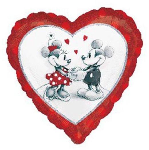 Μπαλόνι Καρδιά Mickey & Minnie in love 45 εκ