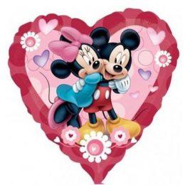 Μπαλόνι Καρδιά Mickey & Minnie Mouse 81 εκ