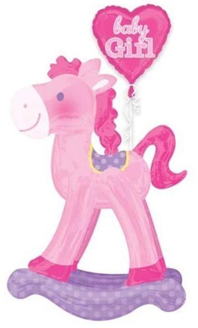 Μπαλόνι Airwalker ροζ Κουνιστό Αλογάκι 127 εκ