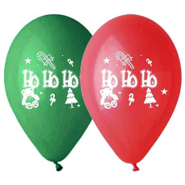 """12"""" Μπαλόνι τυπωμένο Ηο Ηο Ηο"""