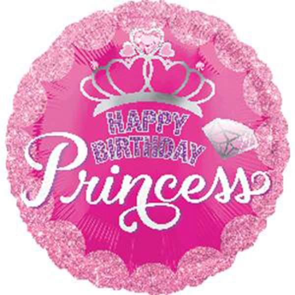 Μπαλόνι Κορώνα Happy Birthday Princess 45 εκ