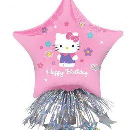 """Μπαλόνι αστέρι Hello Kitty """"Happy Bday"""" με βαρίδιο"""
