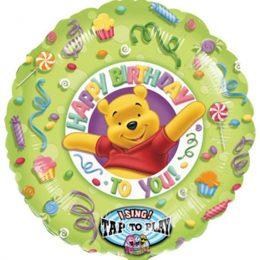 """Μπαλόνι μουσικό Winnie """"Happy Bday"""" 71 εκ"""