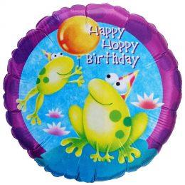 Μπαλόνι Βατραχάκι Happy Hoppy Bday 45 εκ