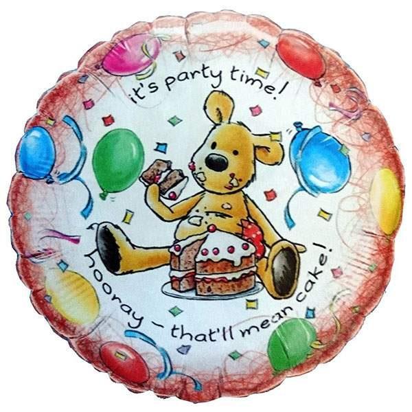 Μπαλόνι Αρκουδάκι It's Party Time 45 εκ