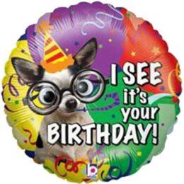 Μπαλόνι για γενέθλια Σκυλάκι 'I see its your birthday'