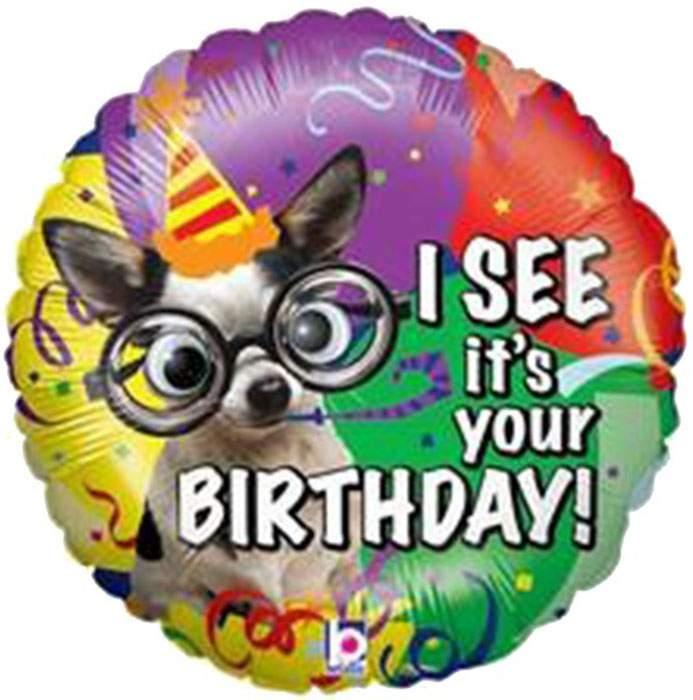 """Μπαλόνι Σκυλάκι """"Its your birthday"""" 53 εκ"""