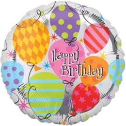 Μπαλόνι Happy Birthday με μπαλονάκια 45 εκ