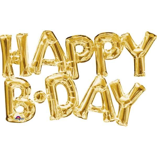 Μπαλόνι για γενέθλια χρυσό 'Happy B-day'