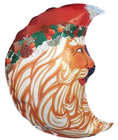 Μπαλόνι Άγιος Βασίλης μισοφέγγαρο 55 εκ