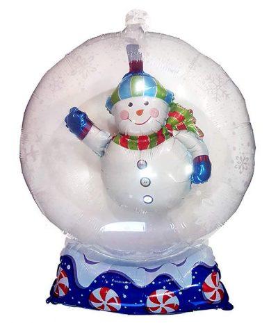 Μπαλόνι χιονάνθρωπος σε γυάλινη μπάλα 70 εκ