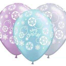"""12"""" Μπαλόνι τυπωμένο σε 3 χρώματα """"Merry Christmas"""""""