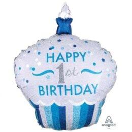 Μπαλόνι Cup Cake 1st Birthday αγοράκι