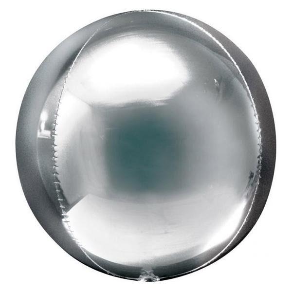 Μπαλόνι ασημί τρισδιάστατη σφαίρα ORBZ
