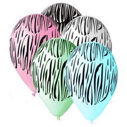 """12"""" Μπαλόνι τυπωμένο Ζεβρέ"""