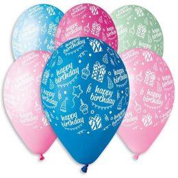 12″ Μπαλόνι Happy Bday (6 χρώματα)