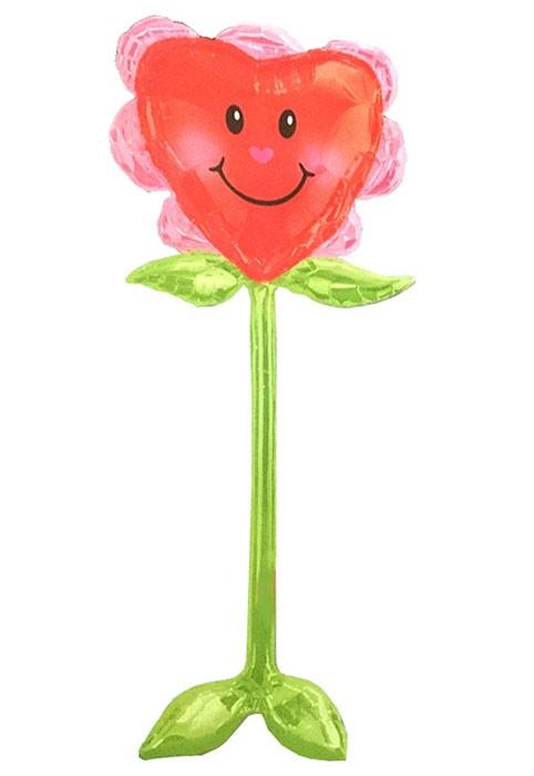 Τεράστιο μπαλόνι Airwalker Καρδιά Λουλούδι 147 εκ