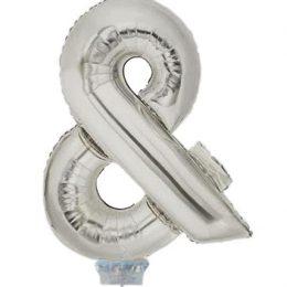 Μπαλονι 40 εκ Ασημί σύμβολο &