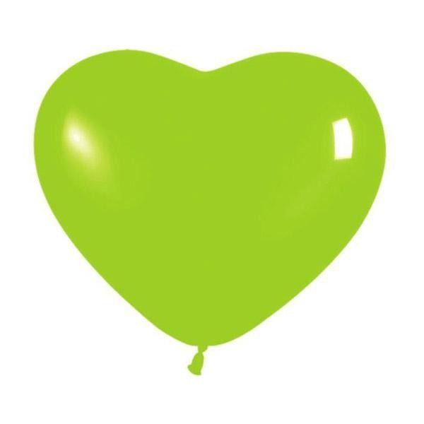 """6"""" Μπαλόνι καρδιά λαχανί"""