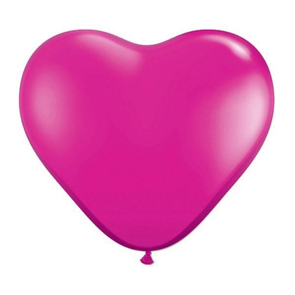"""6"""" Μπαλόνι καρδιά ματζέντα"""