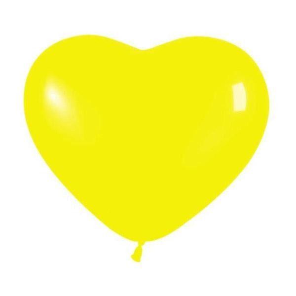 """6"""" Μπαλόνι καρδιά κίτρινη"""
