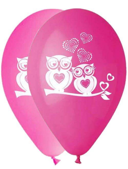 """12"""" Μπαλόνι Κουκουβάγια ροζ αποχρώσεις"""