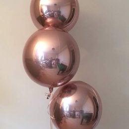 Μπαλόνι τρισδιάστατο Ροζ-Χρυσό ORBZ