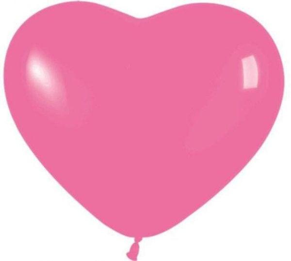 Μπαλόνι καρδιά ματζέντα