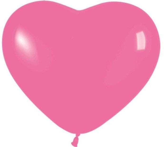 12″ Μπαλόνι καρδιά ματζέντα