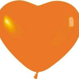 12″ Μπαλόνι καρδιά πορτοκαλί