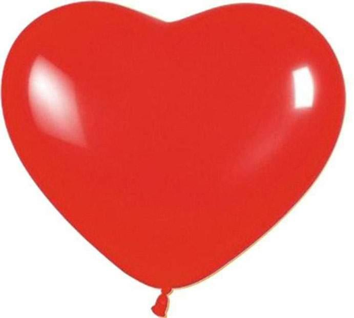 """12"""" Μπαλόνι καρδιά κόκκινη"""