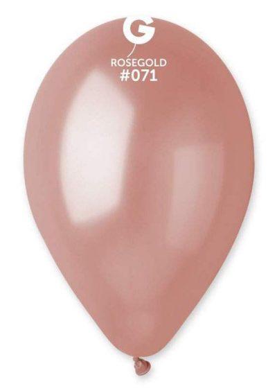 """13"""" Ροζ Χρυσό λάτεξ μπαλόνι"""
