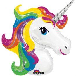 Μπαλόνι κεφάλι Μονόκερου rainbow 83 εκ