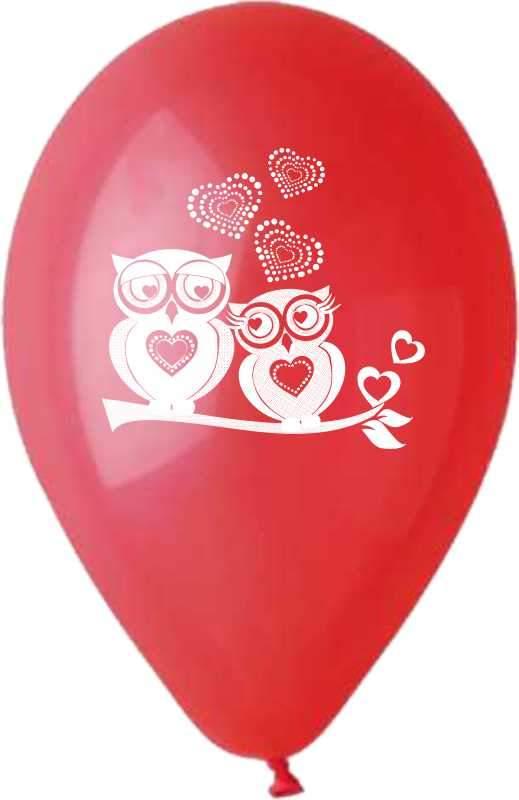 """12"""" Μπαλόνι τυπωμένο ερωτευμένες κουκουβάγιες"""
