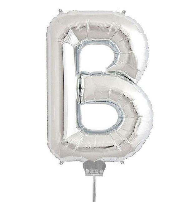 Μπαλονι 40 εκ Ασημί Γράμμα B