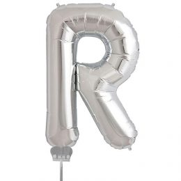 Μπαλονι 40 εκ Ασημί Γράμμα R