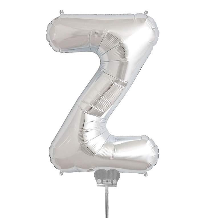 Μπαλονι 40 εκ Ασημί Γράμμα Z