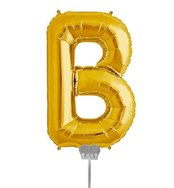 Μπαλονι 40 εκ Χρυσό Γράμμα B