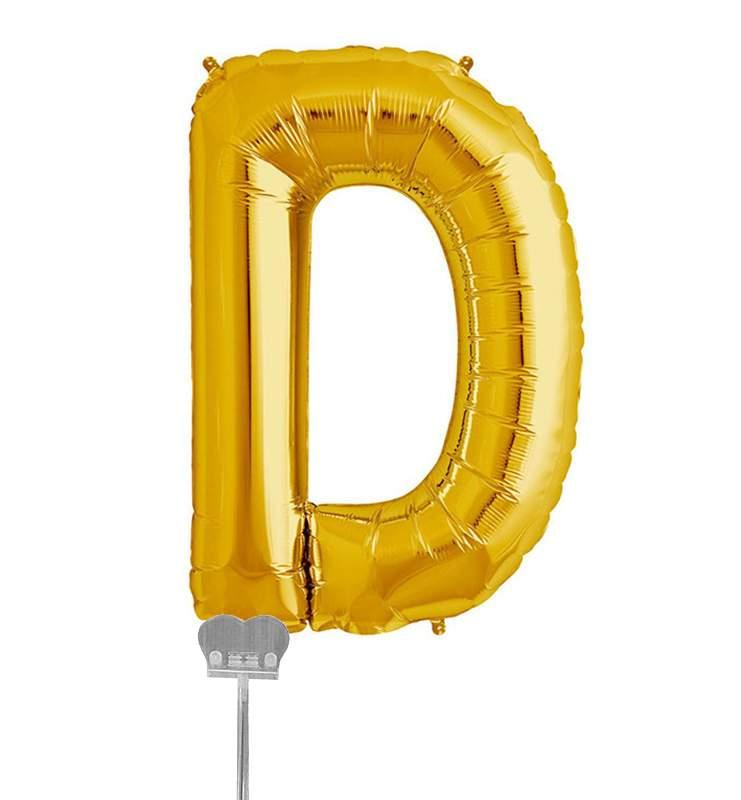 Μπαλονι 40 εκ Χρυσό Γράμμα D