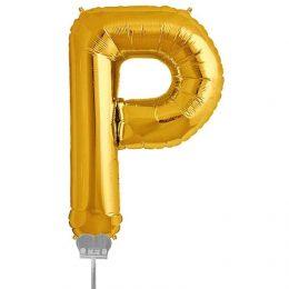 Μπαλονι 40 εκ Χρυσό Γράμμα P