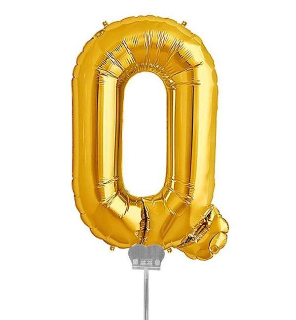 Μπαλονι 40 εκ Χρυσό Γράμμα Q