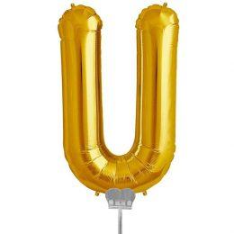 Μπαλονι 40 εκ Χρυσό Γράμμα U
